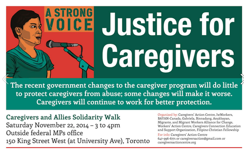 Justice for caregivers