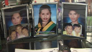Photos of Racquel Talon's children are on display in her Halifax home. (CBC)