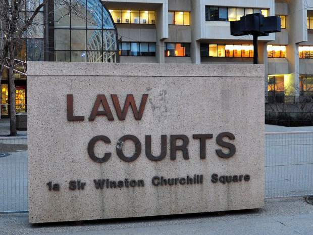 The courthouse in downtown Edmonton