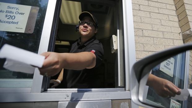 As of Oct. 1, the minimum wage across Canada ranges from a low of $10.30 an hour in New Brunswick to a high of $12.50 an hour in the Northwest Territories. (Jim Young/Reuters)