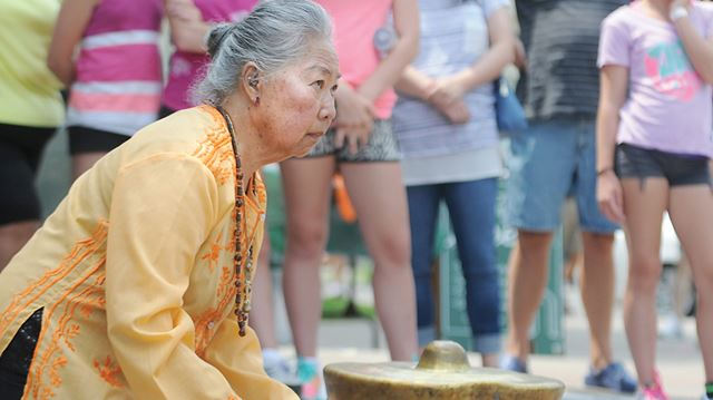 COBOURG -- Carrie Osborne played a kulintang, a traditional instrument from the Philippines, during a performance with the Northumberland Multicultural Centre in 2014. Ms. Osborne came to Northumberland County in 1972. June 2015